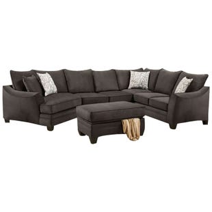 Savvy 3 Piece Left Facing Cuddler Sectional