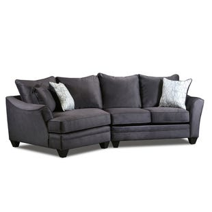 Savvy 2 Piece Left Facing Cuddler Loveseat