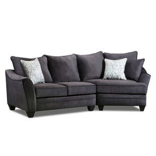Savvy 2 Piece Right Facing Cuddler Loveseat