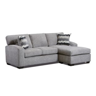 Perth Pewter Sofa with Reversible Chaise