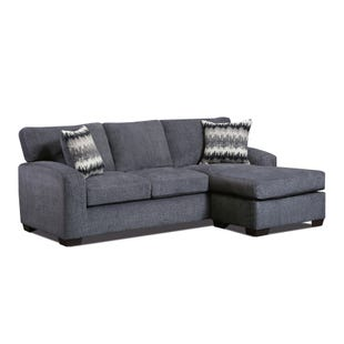 Perth Smoke Sofa with Reversible Chaise