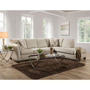 Endurance Oatmeal Chenille Sectional