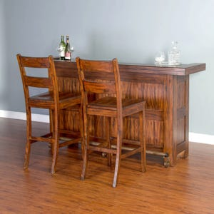 Sunny Designs Tuscany Brown Bar and 2 Stools