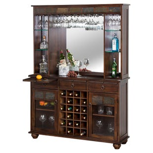 Rustic Bar Back and Hutch