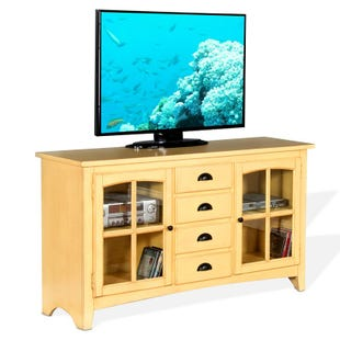 """Elements Tuscan Yellow """"64"""" TV Console"""