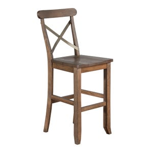 "Sunny Designs Oak Park Camel X-Back 30"" Bar Stool"