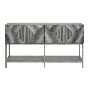 Urban Loft Magnet Burnished Gray 4 Door Console