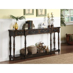 Apperson 4 Drawer Console