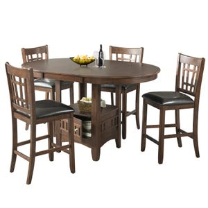 Max 5 Piece Contemporary Counter Height Dining Set