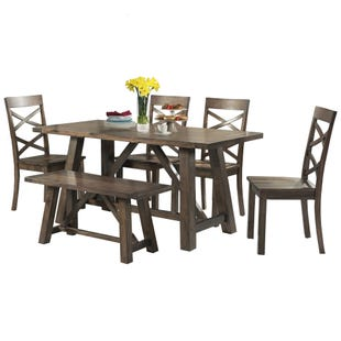 Renegade 6 Piece Rustic Dining Set with Bench