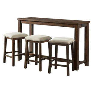 Jax Walnut Counter Height Table with USB and 3 Stools