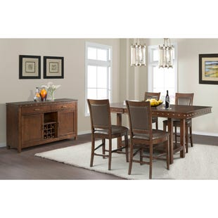 Prescott Rectangular Extendable 5 Piece Counter Height Set