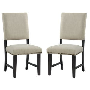 Maddox Linen Set of 2 Chairs