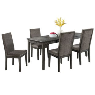 South Paw Dark Gray 5 Piece Dining Set