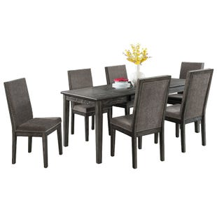 South Paw Dark Gray 7 Piece Dining Set