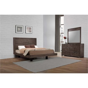 Logic Gray Queen Platform 3 Piece Bedroom Set