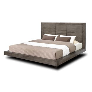 Logic Gray King Panel Platform Bed