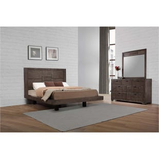 Logic Gray King Platform 3 Piece Bedroom Set