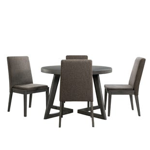 Cross Modern Round 5 Piece Dining Set