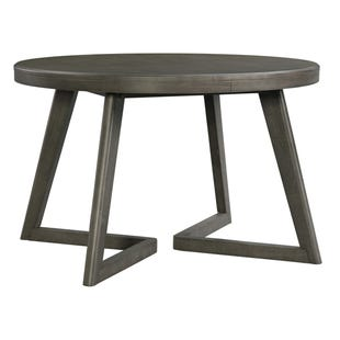 Cross Ash Finish Round Dining Table