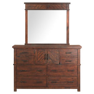 Jax Smokey Walnut 8 Drawer Dresser