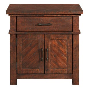 Jax Smokey Walnut Nightstand