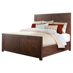 Jax Smokey Walnut Queen Storage Panel Bed