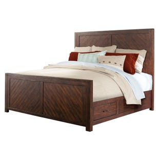 Jax Smokey Walnut King Storage Panel Bed