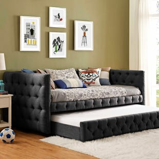Janell Charcoal Linen Daybed