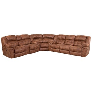 Homestretch Frontier Almond Power Reclining Sectional