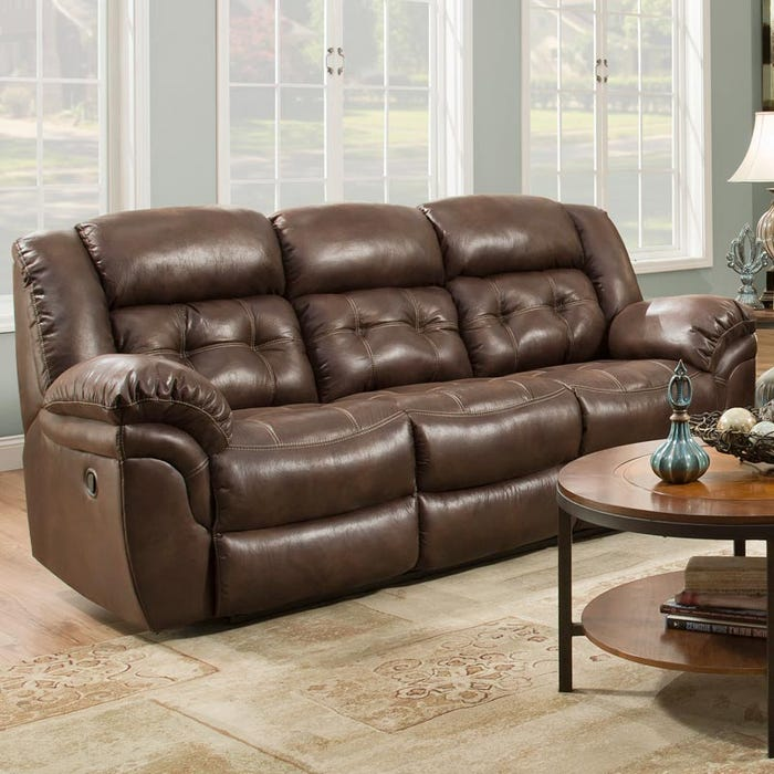Homestretch Frontier Almond Reclining Sofa Weekends Only Furniture