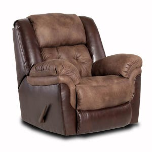 Homestretch Clyde Big Man Brown Microfiber Rocker Recliner