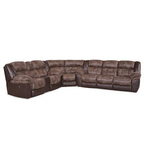 HomeStretch Arcas Brown Reclining Sectional