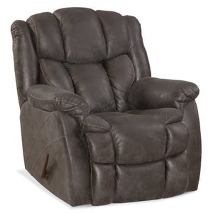 HomeStretch Weston Gray Faux Leather Rocker Recliner