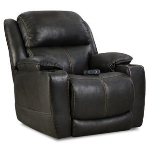 Homestretch Eclipse Black All Power Recliner With Headrest