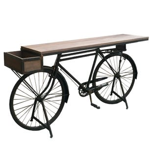 Peddler Reclaimed Wood and Metal Bicycle Bar