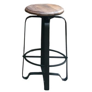 Peddler Reclaimed Wood and Metal Adjustable Bar Stool