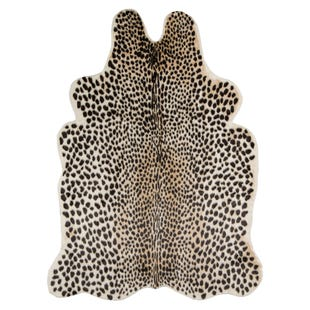 Cheetah Faux Fur 5X8 Rug