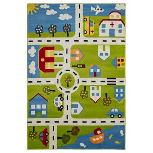 Youth Town Map 5x8 Rug
