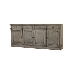 Bramble Solid Mahogany 4 Door Console In Smoke Gray