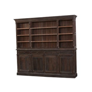 Bronson Solid Mahogany Open Bookcase In Cocoa Finish