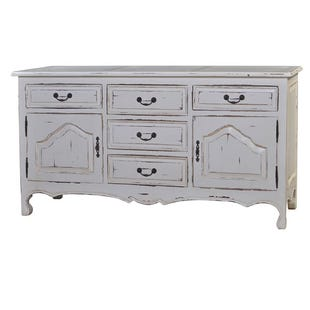 Bramble White Distressed Mahogany Buffet