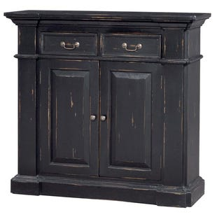 Bramble Small Black Distressed Mahogany Sideboard