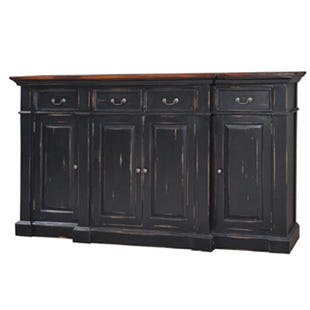 Bramble Large Black Distressed Mahogany Sideboard