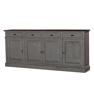 Bramble Distressed Mahogany 4 Door Sideboard