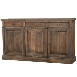 Bramble Distressed Mahogany 3 Door Sideboard