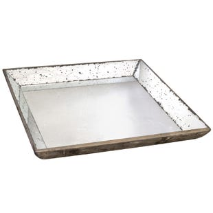 "A&B Home 24"" Mirrored Tray"