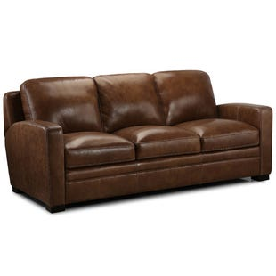 Equestrian Leather Sofa