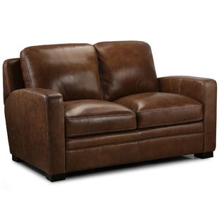 Equestrian Leather Loveseat