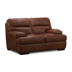 Simon Li Colin Top Grain Leather Loveseat